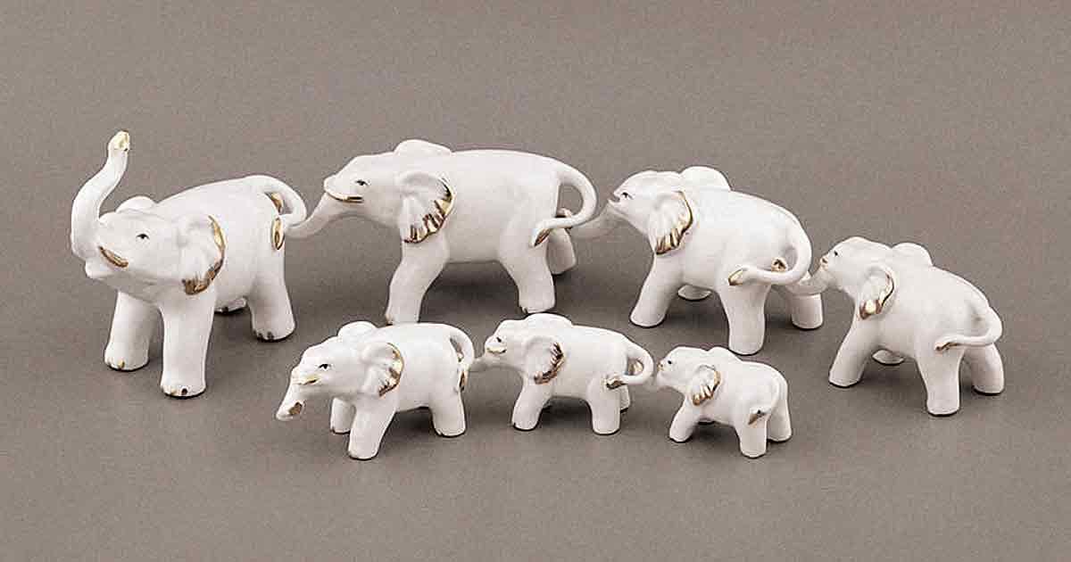 Восточный талисман удачи: что символизируют семь слонов?