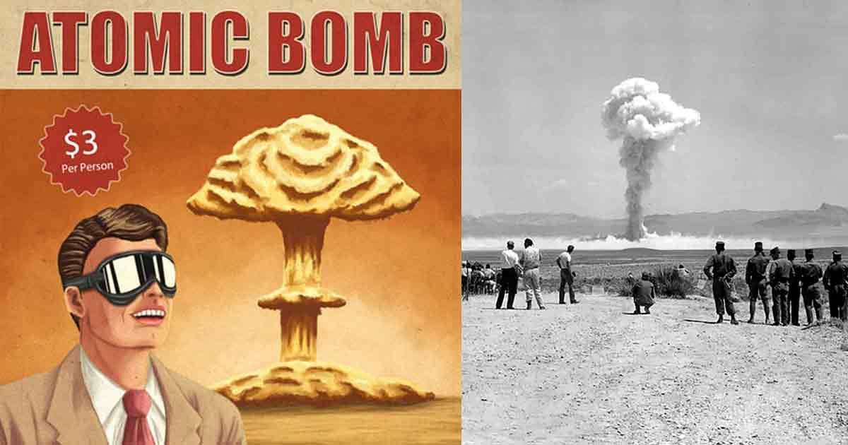 Ядерный туризм: в 50-х вы могли приехать в Вегас и посмотреть на ядерные взрывы вблизи!